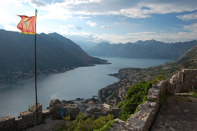 The inlet back to the sea, from Kotor - ten kilometres as the crow flies, about 40 km on the road!