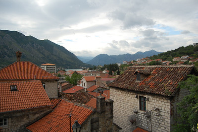 Kotor rooftops as we start to climb the ramparts.
