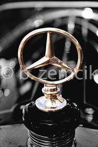 Old Mercedes Mascot copper B&W2-41