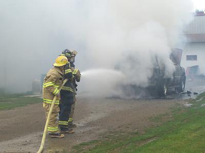 Monteville Me. Car Fire