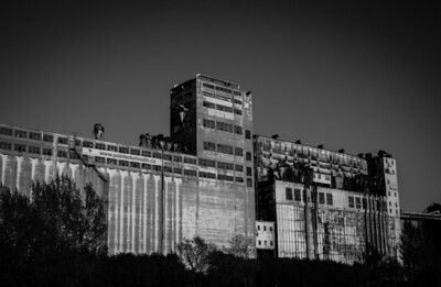 Montreal, Black and white, Building, Montreal Old Port, Silos