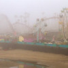 Santa Cruz Boardwalk in the Fog