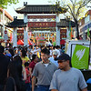 The arch at the entrance to Freedom Plaza, Cabramatta