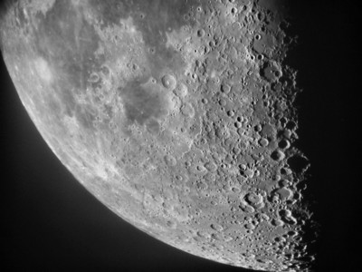 The Lunar X is visible in this image taken May 20, 2010. 10 inch refractor Nikon 990. Poor seeing but an acceptable image - 10 inch refractor.