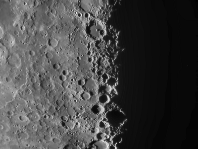 Image of the Lunar X taken by Al Paslow on May 20, 2010 with the 10 inch refractor at Mingo Obs.