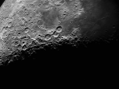 Moon first quarter on June 17, 2010 10 inch telescope Nikon 990