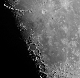 The area of the Copernicus crater. March 11, 2007 at approx 5:30 am.