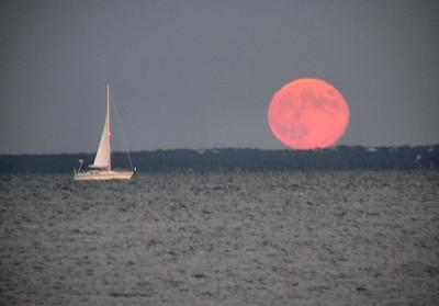 moonrise and sailboat