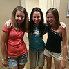 Vanessa, Kourtney, Sara  getting ready for the Moore Middle School 6th grade dance.