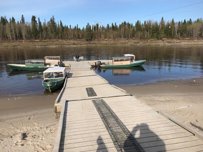 Boat docks in Moose Factory