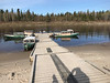 Boat docks in Moose Factory