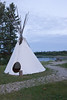 Tipi at Ecolodge in Moose Factory 2007 August 5th.