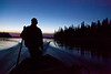 Travelling through the Gutway to Moose Factory after sunset 2011 November 4