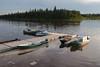Canoes docked at Ecolodge.