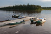 Canoes docked at Ecolodge.