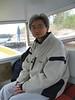 Keewaytinok Native Legal Services staff lawyer Fintan Lee in taxi boat.