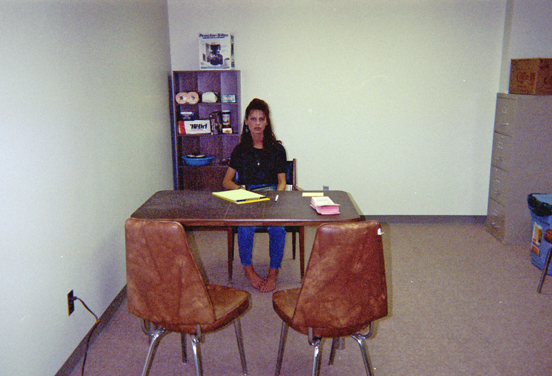 Donna Blaik in Keewaytinok Native Legal Services Moose Cree Complex office in Moose Factory.