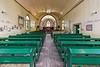 Interior of St. Thomas Anglican Church in Moose Factory 2006 August 4th. Looking towards altar.