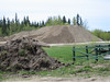 Gravel piled up on Moose Factory Island near the Cree Village Ecolodge.
