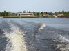 Cree Village including Ecolodge seen from txi boat heading to Moosonee 2006 May 25th.