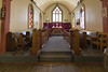 St. Thomas Anglican Church in Moose Factory 2006 August 4th. View of choir and altar.
