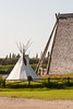 Tipi erected at Cree Village Ecolodge in Moose Factory 2006 August 5th.