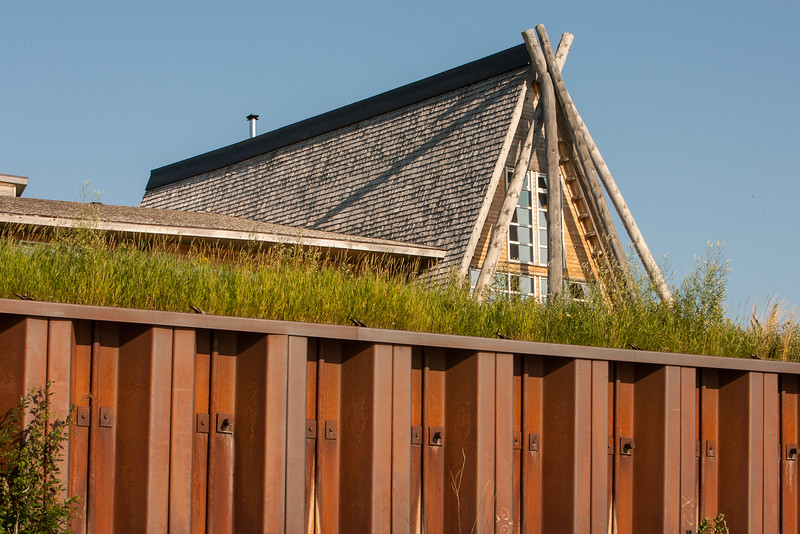 Cree Village Ecolodge in Moose Factory from water level 2006 August 5th.