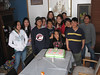 Guests and birthday girl at party for Danis Akiwenzie's 12th 2007 April 15th in Moose Factory.
