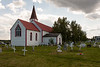 Back of St. Thomas Anglican Church in Moose Factory 2006 August 5th.
