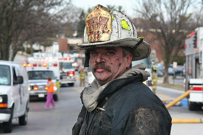 Chief Wentzel after a good job at the Wynnewood Apartments in Wyomissing. 12.22.2010, photo by Tom Leszczynski.