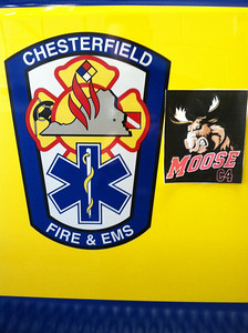 Chesterfield County Fire Showing Their Moose Support! Photo from Justin Carl.