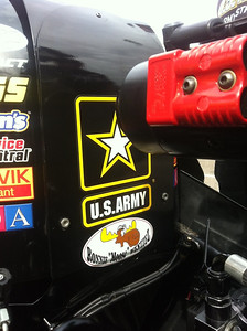 The moose graphic proudly displayed on a NHRA Dragster driven by Tony Schumaker.