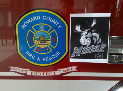 Howard County Fire Shows MOOSE support! Thanks to Jeff Carl.