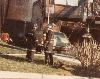 This photo is of Moose in 1985 at a fire in Cumru Township.  I think Ron was a volunteer with Shillington VFD at the time.  I volunteered with Moose from 1982 through the late 1980s at Liberty VFD (Sinking Spring), and Western Berks Ambulance before moving out of PA and started running with a number of combination departments in VA.  I still caught a few runs home visiting in the 90's including the Moss Street Job the night of Sinky's 100th!    Sorry, this is the only thing I could find.  Did not really take a lot of pictures before the days of digital.   Doug Kline Roanoke, VA