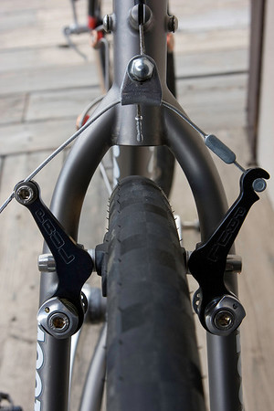 Rear brake and seat stays
