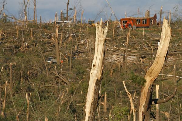 A half Mile wide area of destruction.