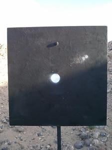 Two shots at 600 yards a bit high and definitely pushed by the wind...