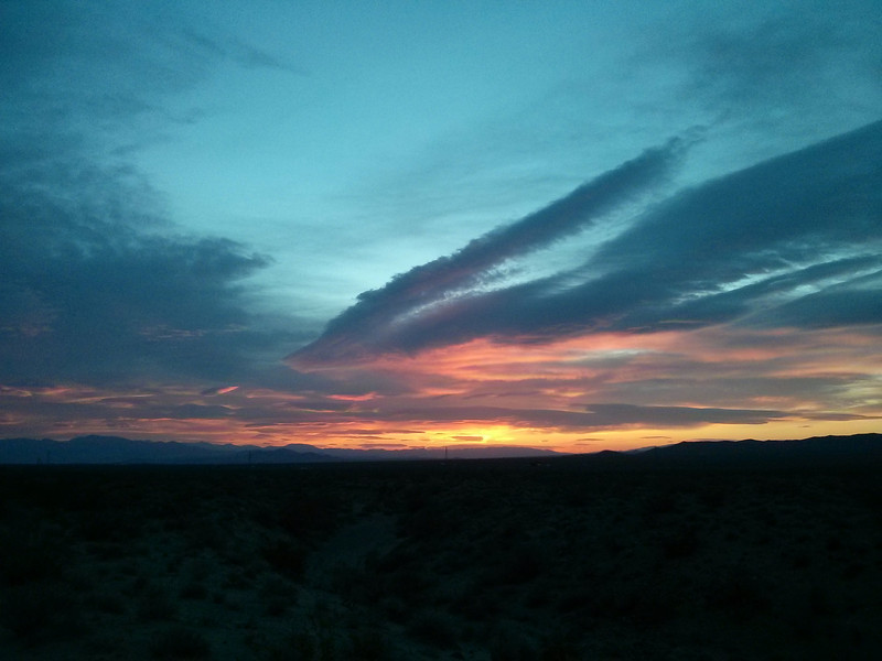 Sunrise on the drive out to the Range on Friday morning.
