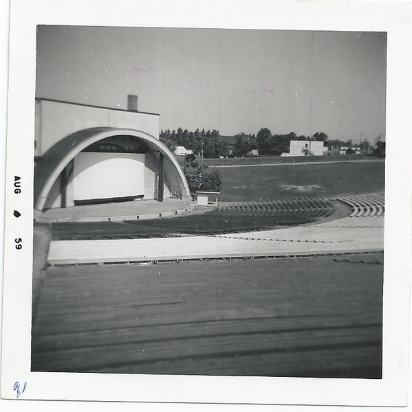 Outdoor theater.  Arthur Howard Nicander - Radioman A School - USNTC BAINBRIDGE, MD. - Photo dated August 1959.  (Picked up from Internet site Together We Served).