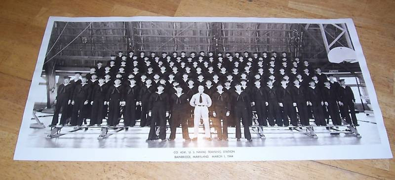 USNTC BAINBRIDGE Company 4041 - March 1, 1944.  Found on EBay.
