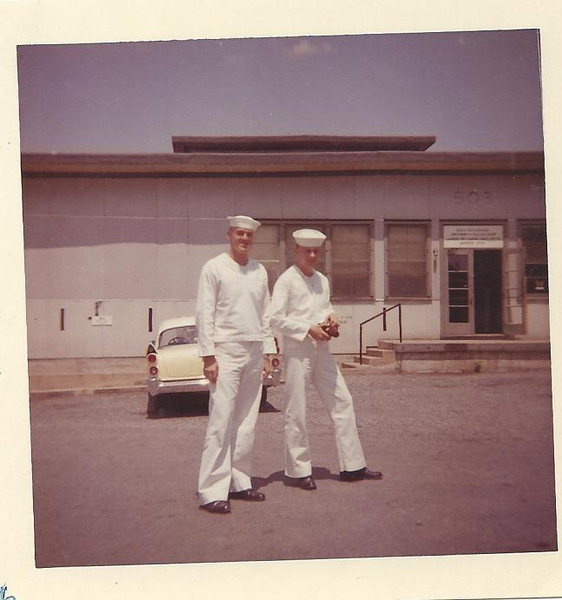 Building 509 - Arthur Howard Nicander - Radioman A School - USNTC BAINBRIDGE, MD. - Photo dated August 1959.  (Picked up from Internet site Together We Served).