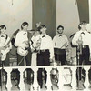 USNTC BAINBRIDGE Officers Club - The Runabouts.<br /> <br /> Can anyone identify any of these lads and what the time frame (Year?) may have been?