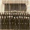Radioman Class A School - USNTC BAINBRIDGE.  Class Number and Date Unknown.  Arrow points to RMSN CALLAHAN.
