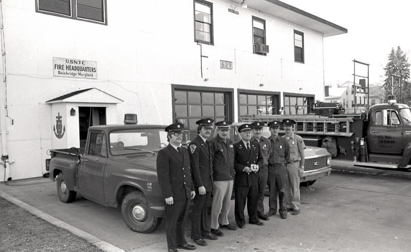 USNTC BAINBRIDGE Fire Station No. 12, Building 629. April 26, 1978.