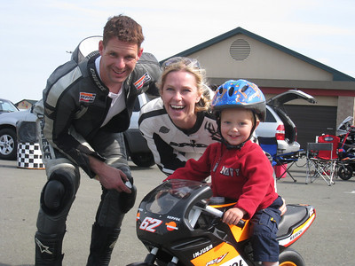 Shawn, Elin & Emrick at the Infineon Racetrack.