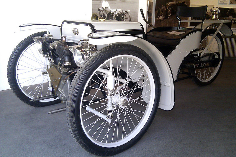 This is the car that started it all - the roadgoing version of the prototype 3 wheeler, circa 1910.