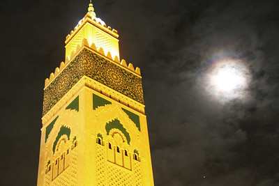 nighttime at hassan II mosque
