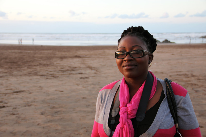 sekai is from zimbabwe, and this is her first time ever to see a beach. she was also able to verify that sea water is salty