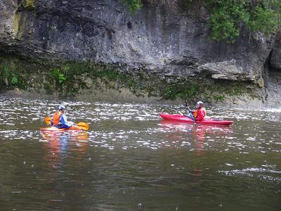 WWCC members paddle the Elora Gorge Photo by: Brian Fleet