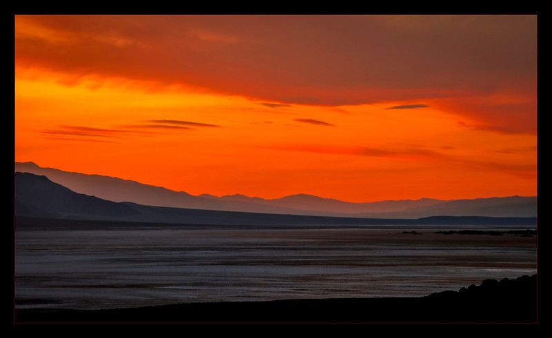 """""""Death Valley Sunset"""" We were just finished with a photoshoot at Artist Pallet and we saw this sunset on the way back, I just had to pull over."""
